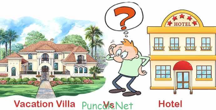 pilih hotel atau villa di puncak